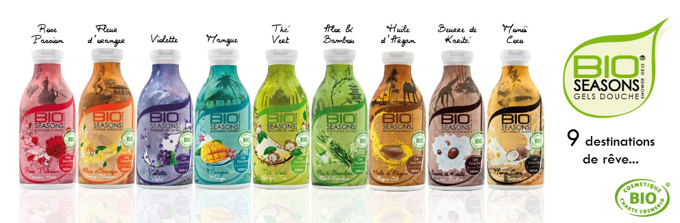 collection gels douches bio seasons