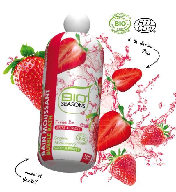 bain moussant fraise
